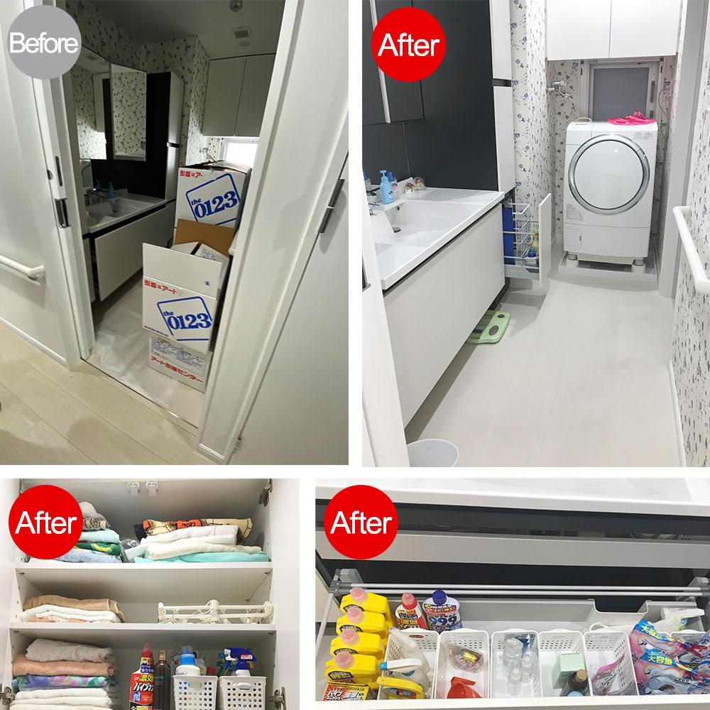 洗面所Before After