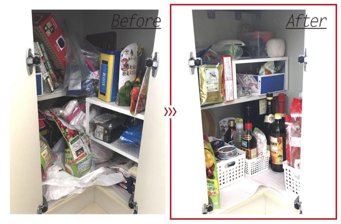 キッチンの整理収納ビフォアアフターアイキャッチ