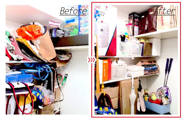 納戸の整理収納例