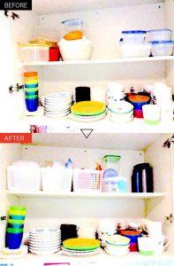 キッチン戸棚のお皿の整理収納