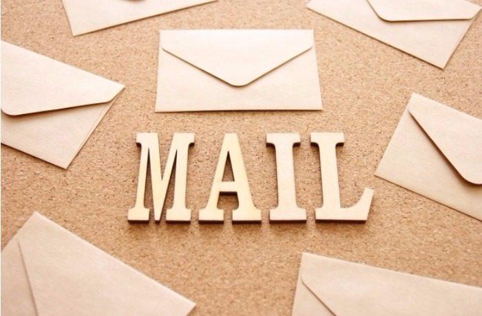 手紙とMAILと書いた文字
