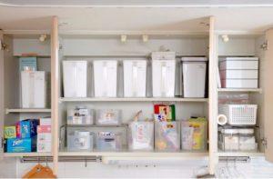 キッチンのお片付け後吊戸棚