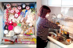 整理収納引越しプラン、賞味期限切れ食品ストックを廃棄しているところの画像