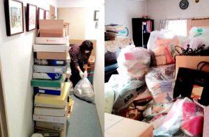 整理収納引越しプラン、お部屋に集めたゴミの画像