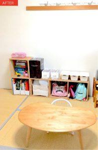 子供部屋の整理収納アフター画像