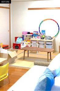 子供部屋の整理収納ビフォアー画像