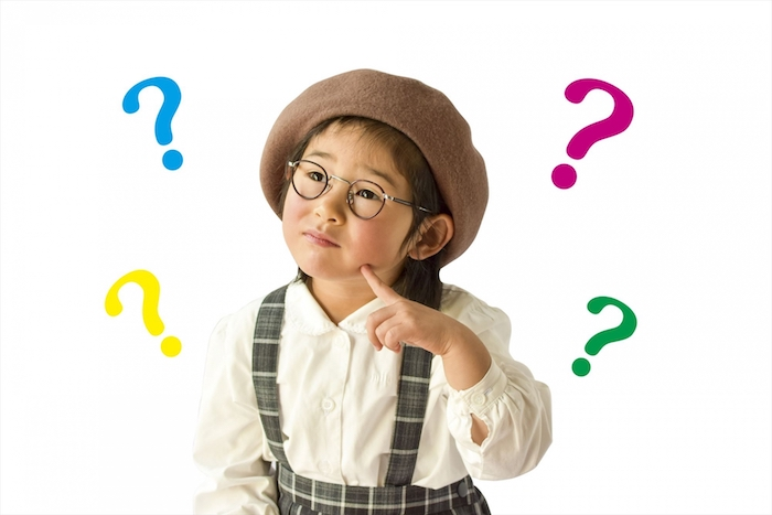 疑問に思う幼稚園児