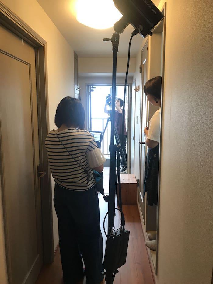 大橋わかの自宅撮影風景