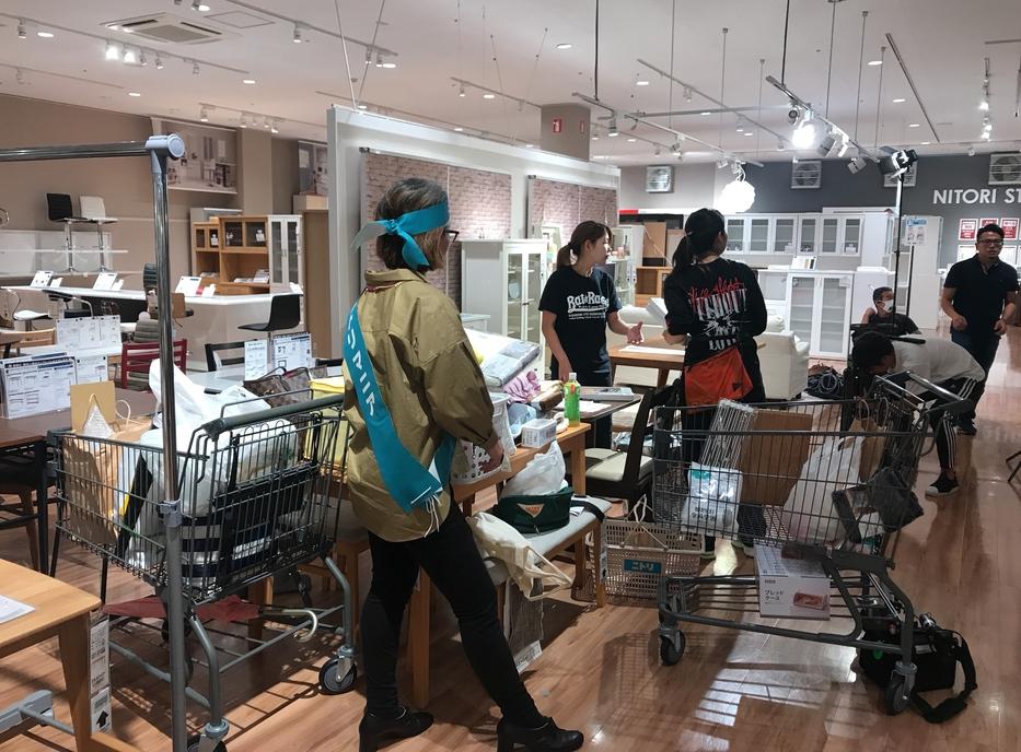 ほんわかテレビ大阪ニトリでの撮影風景
