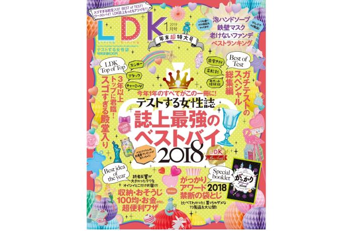 晋遊舎 LDK 2019年1月号 表紙