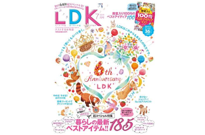 LDK 2019年7月号|6周年記念の大特集! 暮らしの最新ベストアイテム