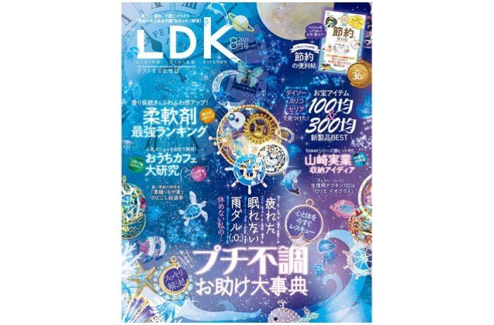 晋遊舎 LDK 2021年8月号|山崎実業の収納ベストアイディア